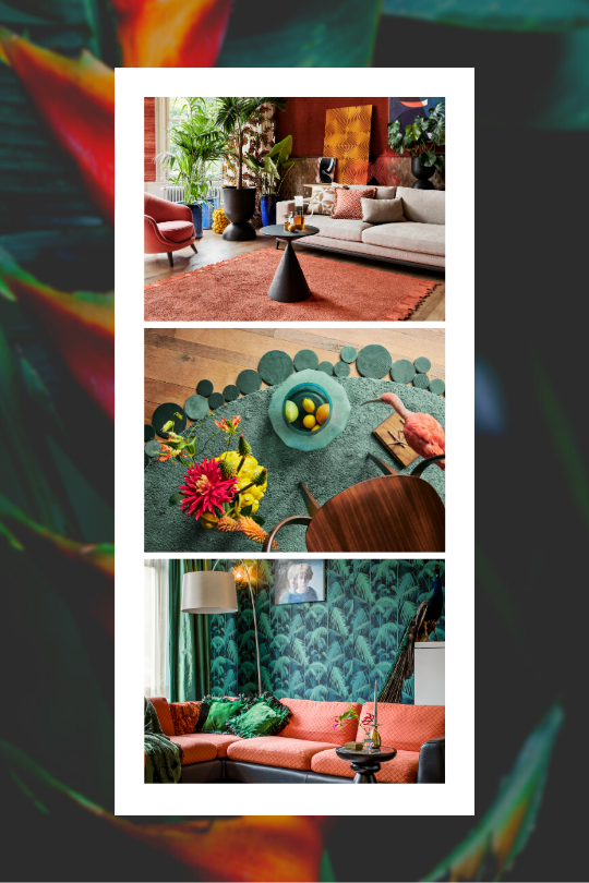 Trend Styled Nature collage Floor Jewels by Roelfien Vos